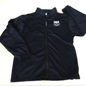 USA Olympic Committee Navy Full Zip Jacket - M